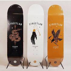 Skate decks by streetlab.nu #skate #board #typography