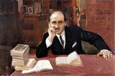 """""""Portrait of José Ortega y Gasset"""". Joaquín Sorolla y Bastida."""