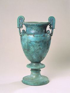 Greek Late Classical Bronze Volute Krater, ca 400-350 BCE, Corinthian or possibily Magna Graecian, allegedly from Greece.