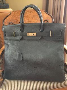 Hermes Birkin 40 HAC Haut à Courroie Black Togo Leather Travel Bag  Hermes   bag 81a1819c5c270