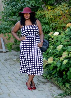 Plus size fashion for women #Asoscurve dress in check #plussize #fashion #curves #Falloutfits