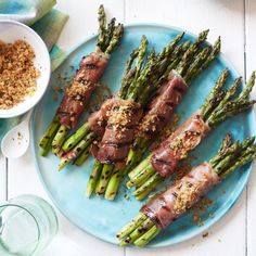 Prosciutto-Wrapped #Asparagus with Lemony Bread Crumbs