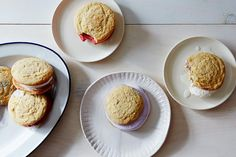Patriotic Ice Cream Sandwiches recipes: Fill soft, chewy cookies with homemade or store-bought ice cream. #food52