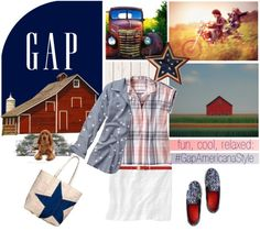 """Americana Style With Gap"" by pattykake on Polyvore"