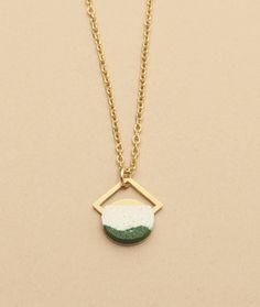 Green Brass Phoenix Necklace