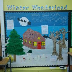 """Winter Wonderland now complete, with Snow Family and the """"story"""" of what we did."""