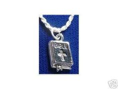 New Holy Bible Charm Silver Jesus Jewelry Christianity Sterling Silver 925 Jewelry