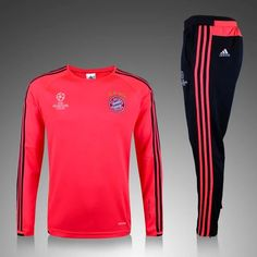 f6d727eb52 Jogging de Nouveau Champions league Survetement de foot Bayern Munich Rouge  2015 2016 decathlon