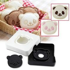 Cute Panda Shape Smile Western Snack Sandwich Cake Bread Maker Mold Toast Box Moulds DIY Cutter Craft Type: Baking & Pastry ToolsBrand Name: AihogardBaking Rice Sandwich, Sandwich Cake, Bread Mold, Bread Cake, Tostadas, Cute Smiley Face, Sandwich Cutters, Sandwiches, Fondant