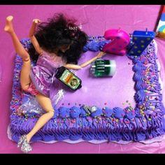 21 year old birthday cake (: