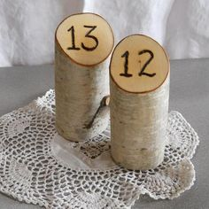 birchwood decorations | Birch Wood Wedding Table Numbers Love it Share it