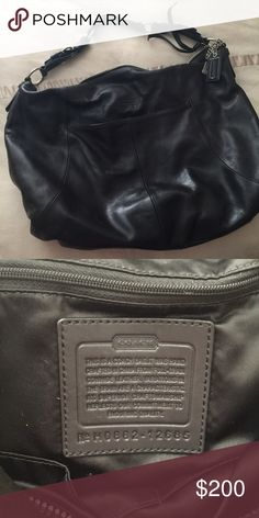 Beautiful Black Coach Bag! Like new! Beautiful bag. Very roomy and like new. Originally 600 so you are getting quite a deal! Coach Bags Shoulder Bags