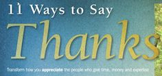 Magazine Writing: Fundraising Support, 11 Ways to Say Thanks to Donors