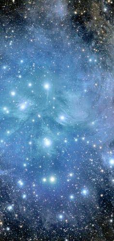 Astronomy - Soft blue galaxy
