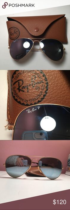 Ray Ban Aviators silver reflective ray ban aviators, in great condition and polarized Ray-Ban Accessories Sunglasses Sunglasses Accessories, Sunglasses Case, Aviators, Ray Bans, Shop My, Best Deals, Womens Fashion, Silver, Closet