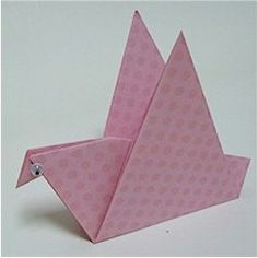 ORIGAMI BIRD: This bird is different from the popular crane, but may be easier for younger children.