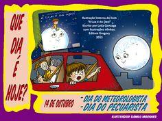 """SÉRIE """"QUE DIA É HOJE?"""" 13 - 14 DE OUTUBRO - DIA DO METEOROLOGISTA E DIA DO PECUARISTA.  #quediaéhoje #datas #datascomemorativas #diadometeorologista #meteorologia #lua #diadopecuarista #pecuaria"""