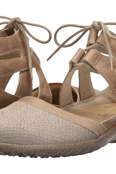 ea3e978ce30 Naot Footwear Kata (Beige Iguana Nubuck Khaki Beige Leather Arizona Tan  Leather)