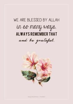 Aku bersyukur di atas segala nikmat yang dikurniakanMu, Ya Allah! Alhamdulillah!