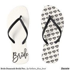 63820c4f71fe0 Bride Diamonds Bridal Party Wedding Flip Flops Wedding Flip Flops