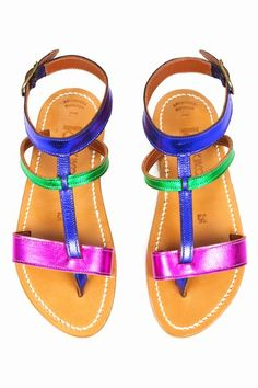 K. Jacques Opening Ceremony multi-color metallic sandals