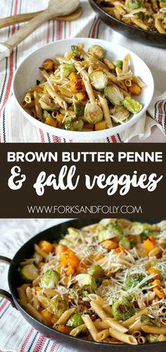 Penne, Pasta Recipes, Cooking Recipes, Healthy Recipes, Sausage Recipes, Fall Dinner Recipes, Fall Meals, Autumn Food Recipes, Pumpkin Recipes