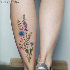 Botyk Tattoo — wildflowers #the_verge_tattoo #tattoo #tattoos...