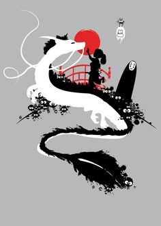 Spirited Away - Studio Ghibli / Hayao Miyazaki Hayao Miyazaki, Totoro, Studio Ghibli Art, Studio Ghibli Movies, Spirited Away Wallpaper, Spirited Away Poster, Spirited Away Tattoo, Manga Anime, Anime Art