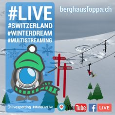 Livespotting ( We are a webcam service provider and offer a complete service around of webcams. Swiss Alps, Sea Level, Live, Switzerland, Warm, Facebook, Twitter, Youtube, Dress