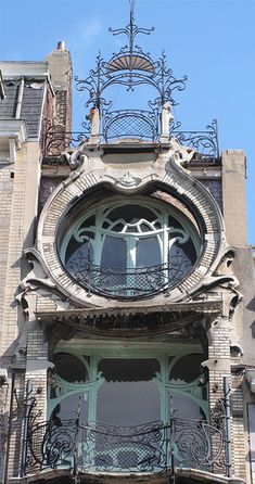 25 Most Beautiful Art Nouveau Architecture Design - Rockindeco Architecture Design, Architecture Art Nouveau, Gothic Architecture, Beautiful Architecture, Beautiful Buildings, Building Architecture, Art Nouveau Arquitectura, Design Art Nouveau, Jugendstil Design