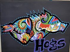 Paisley Razorback canvas!