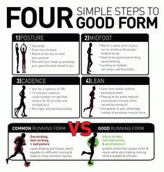 There are a number of techniques, notably POSE RUNNING and CHI RUNNING which work to improve all aspects of running form and skill.