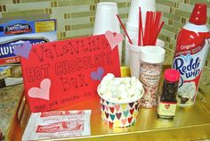 Hot Chocolate Bar- maybe with a few crock pots of hot chocolate for winter bake sales.