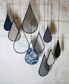 stained glass raindrops