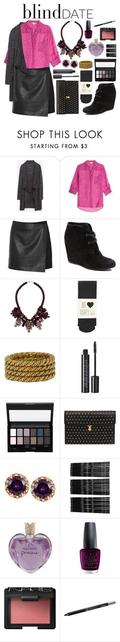 """What to Wear: Blind Date"" by evil-laugh ❤ liked on Polyvore featuring Zara, Diane Von Furstenberg, Theory, Dolce Vita, Ek Thongprasert, Oasis, Tiffany & Co., Urban Decay, Maybelline and Alexander McQueen"