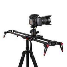Professional 80cm/32 inch Carbon Fiber Rail Track Slider Stabilizer for DSLR Camera Video DV
