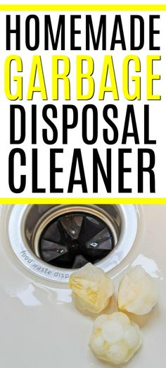 Dealing with a smelly garbage disposal? Check out this easy to make homemade garbage disposal cleaner. It combines lemon and baking soda to smell great! Cleaning Recipes, House Cleaning Tips, Diy Cleaning Products, Spring Cleaning, Cleaning Hacks, Cleaning Lists, Cleaning Schedules, Weekly Cleaning, Cleaning Checklist