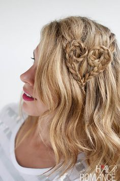 Heart braids! 50 Hair Tutorials  How To's To Inspire You!