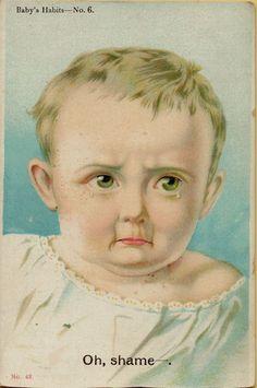 Vintage Postcard Greetings Baby 1910