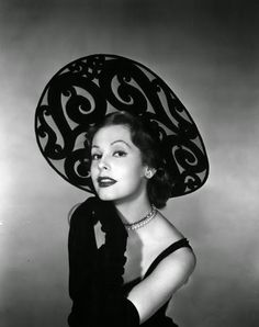 Vintage Glamour Girls: Arlene Dahl 1940s Fashion, Vintage Fashion, Arlene Dahl, Vintage Glamour, Vintage Hats, Wide-brim Hat, Love Hat, Vintage Accessories, Redheads