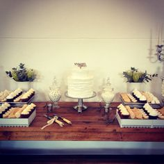 Wedding cake and sweet table by The Birdcage, Stellenbosch Bird Cage, Dessert Table, Wedding Cakes, Table Settings, Sweet, Furniture, Home Decor, Wedding Gown Cakes, Candy