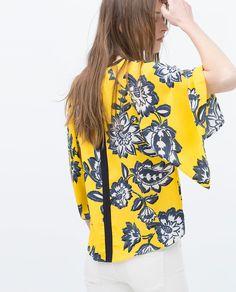 PRINTED KIMONO TOP from Zara
