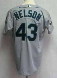 2002 Seattle Mariners Jeff Nelson #43 Game Issued Gray Away Jersey - Game Used MLB Jerseys by Sports Memorabilia. $156.84. 2002 Seattle Mariners Jeff Nelson #43 Game Issued Gray Away Jersey