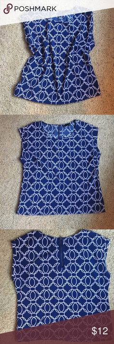 Noir Boxy Blouse 100% polyester and stretchy. Boxy shape - perfect for layering. Excellent used condition. Barely there short sleeves. Noir Tops Blouses