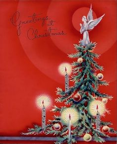 Old Christmas Post Cards — (610x850)
