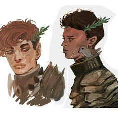 Painted head shots of my forest knights from my 'witch' series And oh don't forget to join my giveaway for paintings like these! Just go to my profile for more info #knights #art #painting by munadraws