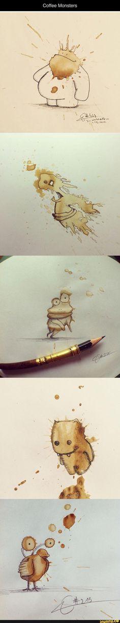 coffee, art