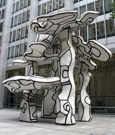 Jean Dubuffet, Group of Four Trees, Stunning depiction of nature in black and white. I want to see this in person if I ever get to New York...