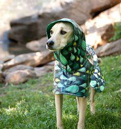 Dog Raincoat Slicker  Rain Drops  Small Breed by TreeParlor, $52.00