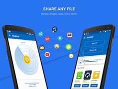 SHAREall PRO: Incredibly fast Real time file Sharing App. to transfer MoviesImagesVideosDocsInstalled App etc @ lighting fast speed. Share any files format to your Friends and Family without Internet.  Main features  NO ADS!!  Share all File type at any place as per your need.  WiFi File Transfer  Password Protection  No Internet Required  Cool DPs  Around 200 Faster File Transfer than Bluetooth.  Easy to Use App with Hi Tech Features  Play All Music & Video  Pick any file from…